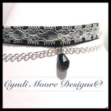 white lace choker necklace images Gothic inspired black and white lace choker necklace by cyndi jpg