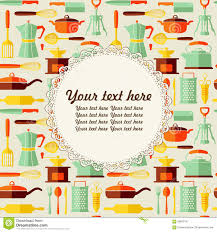 Kitchen Background Kitchen Vector Background With Place For Text Stock Vector Image