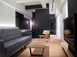 Narrow Living Room Design by Wooden Long Narrow Living Room Idea With Simple Furniture Choice