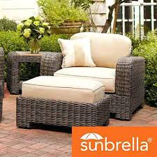 outdoor wicker furniture with sunbrella cushions curved sofa with