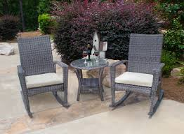Outdoor Rocking Chair Cushion Sets Bayview Rocking Chair Set Driftwood Wicker
