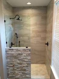 Doorless Shower For Small Bathroom Shower Showers Walk In Ideas Bathroom Designs For Small