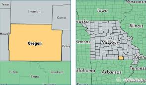 map of oregon mo oregon county missouri map of oregon county mo where is