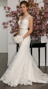 ivory wedding dress picture of sleeveless ivory wedding dress with plunging neckline