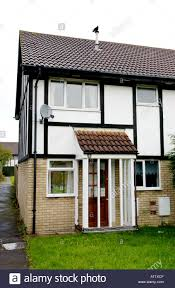 modern british house with mock tudor upper facade in bridgend