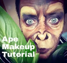 cool face painting for halloween affen monkey makeup tutorial facepainting youtube