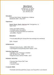 resume objective exles for highschool students exle of resumes for high students