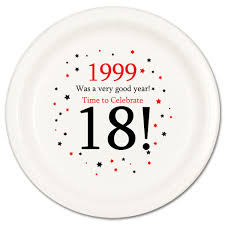 celebrate plate 1999 party supplies 1999 18th birthday dessert plate