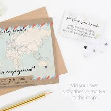 Location Of Norway On World Map by Personalised World Map Engagement Card By Norma U0026dorothy