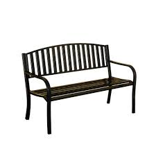 Steel Outdoor Bench Metal Patio Furniture Sunjoy Outdoor Benches Patio Chairs