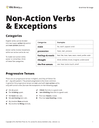 non action verbs u0026 exceptions u2013 esl library blog