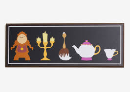 monday must have beauty and beast silhouette wall art