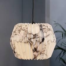 Paper Hanging Lamp Fanned Paper Pendant Polygon West Elm