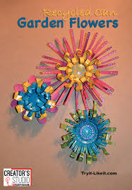 upcycled soda can garden flowers