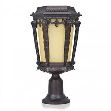 Patio Pillar Lights Reviews For 17 High Traditional Style Decorative Bright