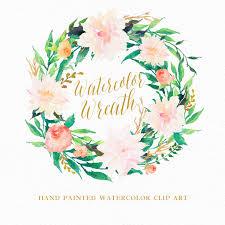 Romantic Decor And More Watercolor Romantic Flower Wreath Individual Png от Graphicsafari