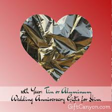 10 year wedding anniversary gift 10th year tin or aluminum wedding anniversary gifts for him