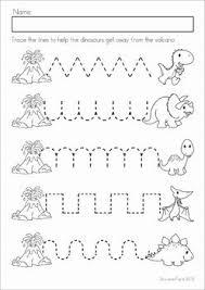 dinosaur preschool prep worksheets u0026 activities literacy