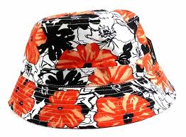 hats flowers orange white clothing line kickoff