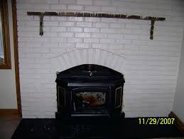 refacing brick fireplace ideas remodel with stone mantel brick