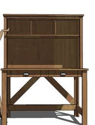Diy Desk Plan Diy Desk Hutch With Free Plans From White Desk Hutch