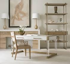 Desk 51 Hickory White 213 51 Argon Acrylic Writing Desk