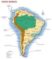 south america map argentina bolivia brazil chile