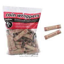 72 preformed penny tubes paper coin wrapper 1 cent pennies shotgun
