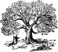 Oak Tree Drawing Oak Tree Charter Oak Clipart Etc Image 24919