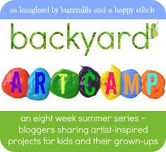 introducing backyard art camp a summer series of inspiring art