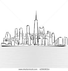 chicago skyline outline stock images royalty free images
