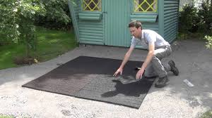 Recycled Rubber Patio Pavers How To Install Rubber Tiles In Patio Or Play Areas