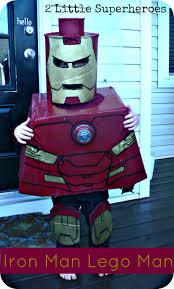 diy lego man iron man costume simple cardboard box and spray