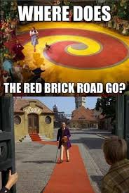 Wizard Of Oz Meme - the red brick road theory the wizard of oz is