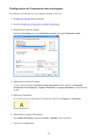configuration de l u0027impression des enveloppes canon pixma mx535