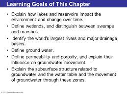 Define Water Table 2014 Pearson Education Inc Chapter 2 Lecture Mcknight U0027s Physical