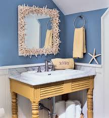 themed mirror blue and white themed bathroom paint colors with starfish
