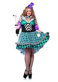 plus size alice in wonderland manic mad hatter costume by leg