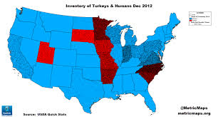Turkey World Map Gobble Up This Great Map Of America U0027s Turkey Population Vox
