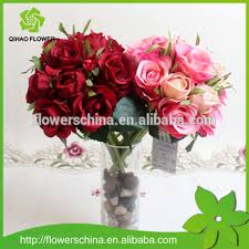 wholesale artificial flowers guangzhou factory wholesale wedding bouquet with silk artificial