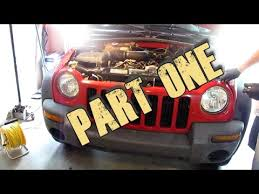 2005 jeep liberty radiator fan part 1 remove and replace 2002 2007 jeep liberty radiator
