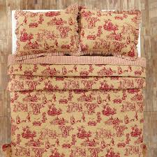 elaine rouge toile king quilt teton timberline trading