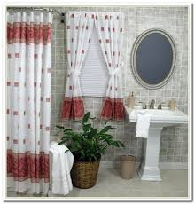 shower curtain with matching window intended for curtains treatments plans 3