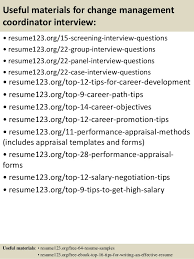 Changing Careers Resume Samples by Top 8 Change Management Coordinator Resume Samples