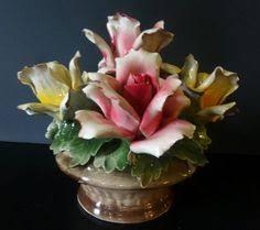 capodimonte basket of roses vintage large capodimonte flower basket nuova italy porcelain