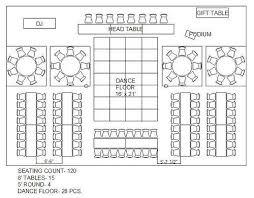 Free Sample Floor Plans Wedding Reception Floor Plan For 120 Google Search Wedding