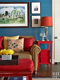red color schemes for living rooms color combos using blue