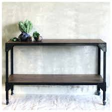 wood and metal console table with drawers black metal console table with drawers and glass small