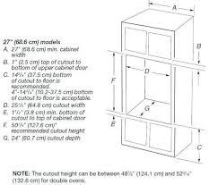 wall oven cabinet width double wall oven cabinet depth savae org