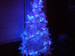 impressive decoration white tree blue lights pre lit